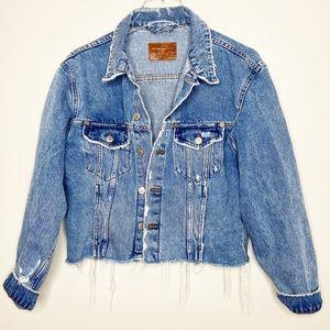Zara The Raw Edge Denim Jacket Blogger Favorite S